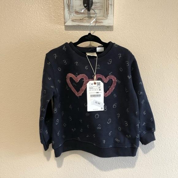 Zara Other - Zara girl crew neck sweater NWT